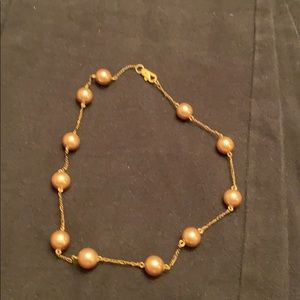 Bronze Pearl chocker or kids necklace